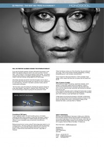 Press info Monoqool IQ 3D printed frames