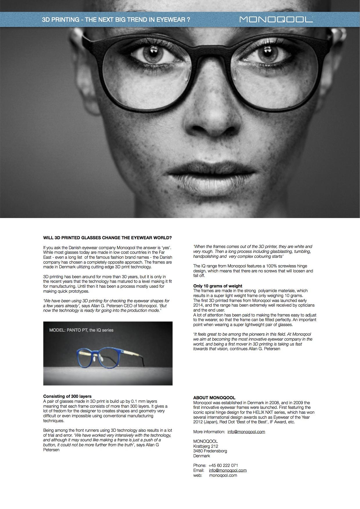 Eyewear | Tailor Made Glasses & Bespoke Glasses