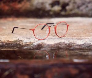 Red glasses. 3D printed eyewear