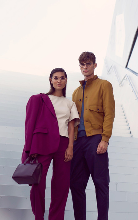 Man and women with 3D printed eyewear