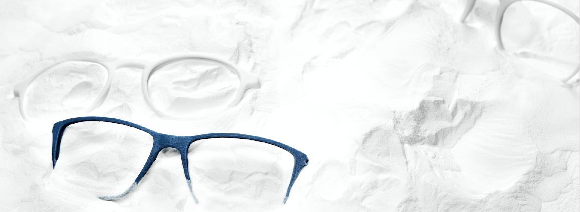 3D printed glasses. Innovative cool eyewear