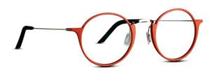 Red round glasses. 3D printed eyewear
