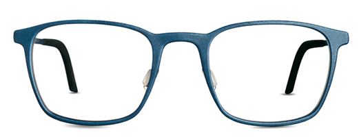 Blue eyeglasses. 3D printed glasses