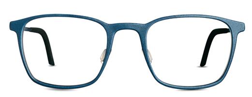 Blue eyeglasses. 3D printed glasses