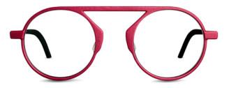 Red glasses. Unique eye glasses