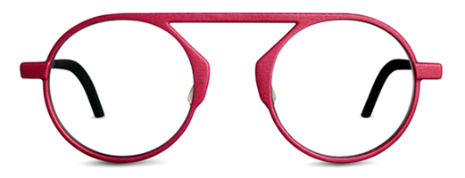 Red glasses. Unique eye glasses