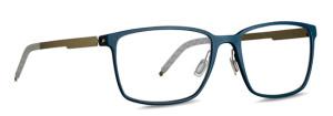 Blue mens glasses. 3D printed eyewear